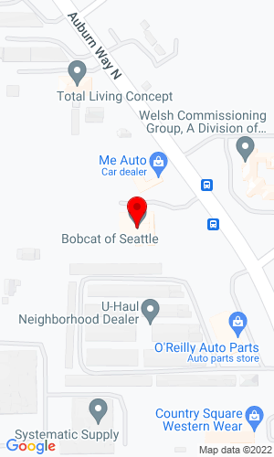 Google Map of Bobcat of Seattle 913 Central Avenue S, Kent/Seattle, WA, 98032