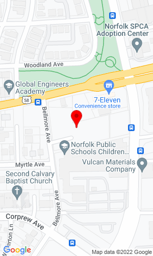 Google Map of Bobcat of Tidewater 986 Bellmore Ave, Norfolk, VA, 23504