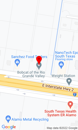 Google Map of Bobcat of the Rio Grande Valley 222 E Frontage Road, Alamo, TX, 78516