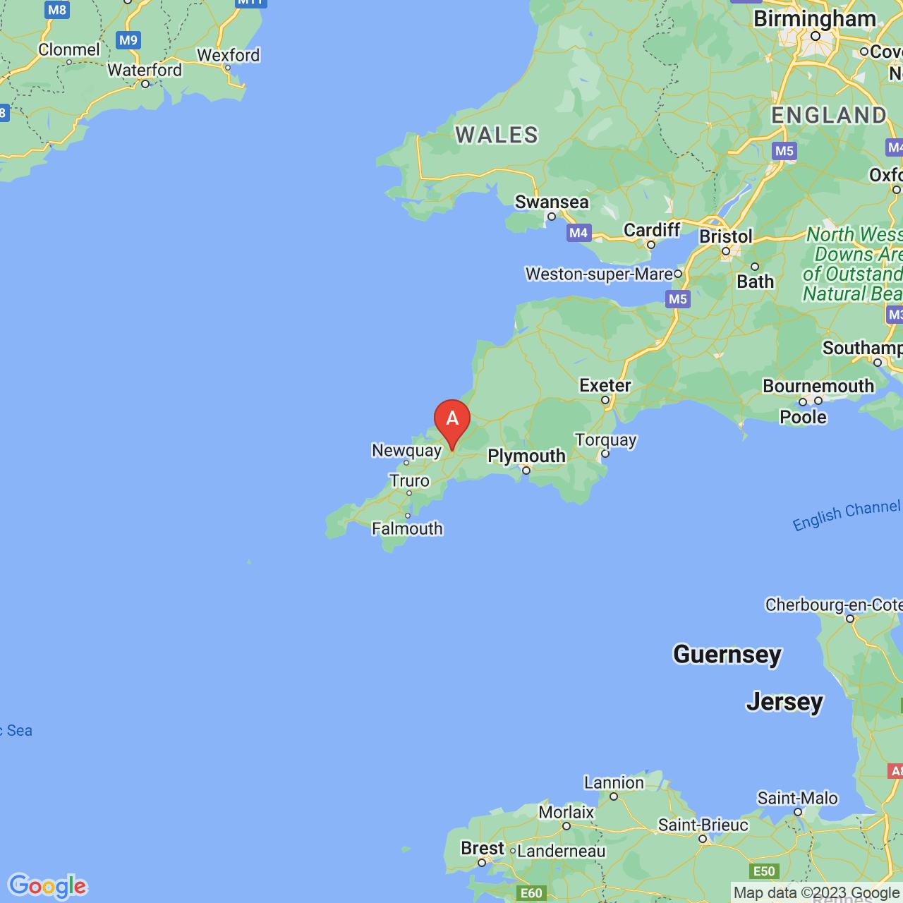 Bodmin, England Map