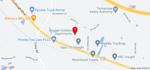 Google Map of Boggan Estates Apartments