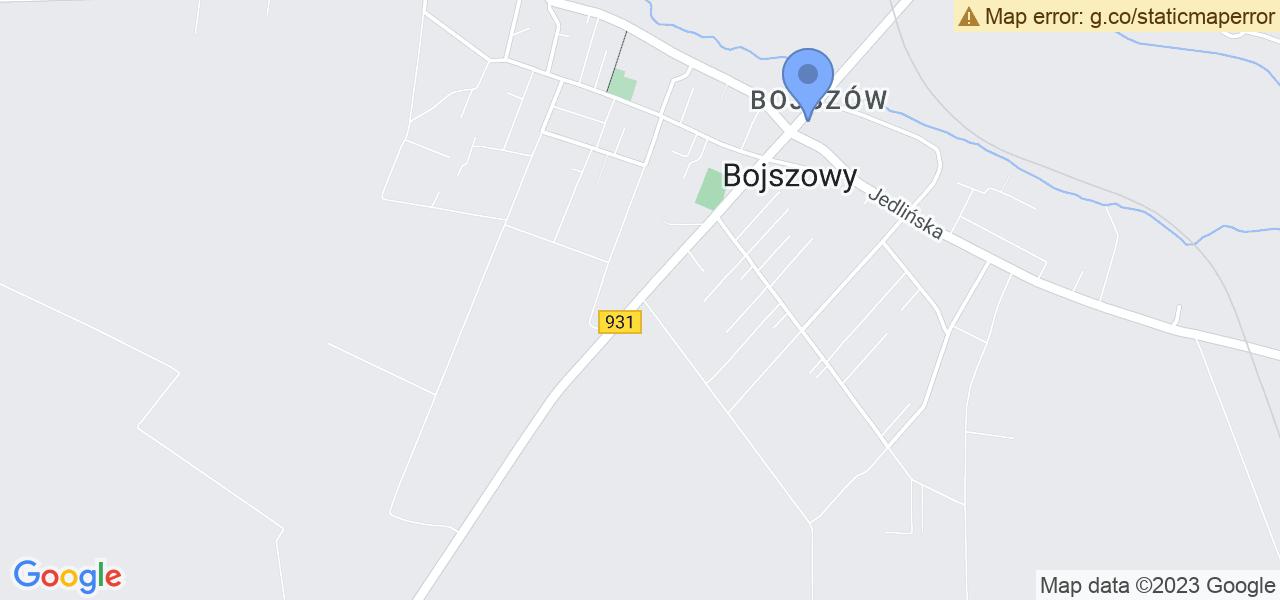 Jedna z ulic w Bojszowach – Gościnna i mapa dostępnych punktów wysyłki uszkodzonej turbiny do autoryzowanego serwisu regeneracji