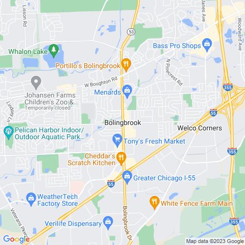 Map of Bolingbrook, IL