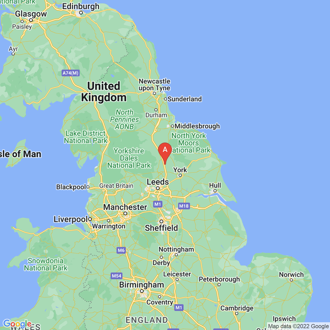 Boroughbridge, England Map