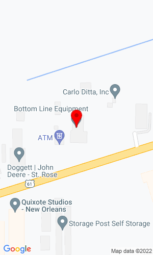 Google Map of Bottom Line Equipment LLC 10260 Airline Highway, St. Rose, LA, 70087
