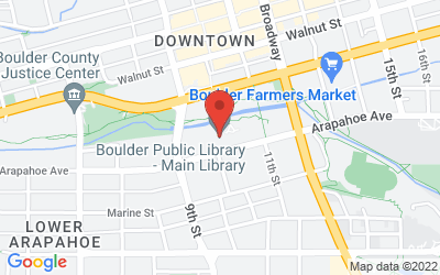 Map of Boulder Public Library - Arapahoe