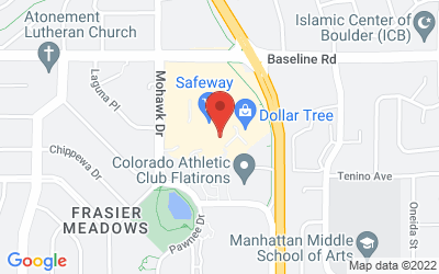 Map of Boulder Public Library - Meadows