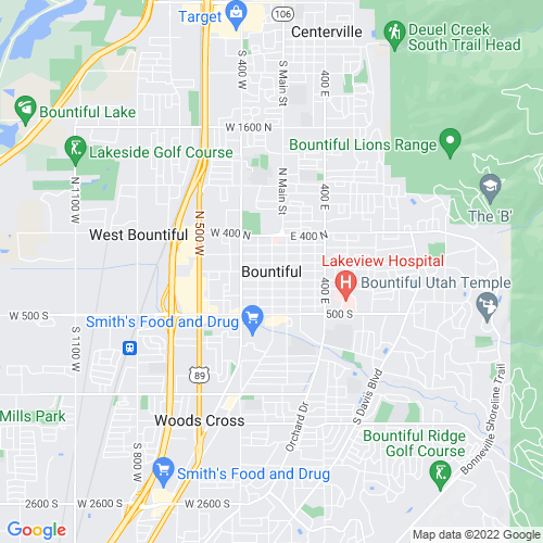 Map of Bountiful, UT
