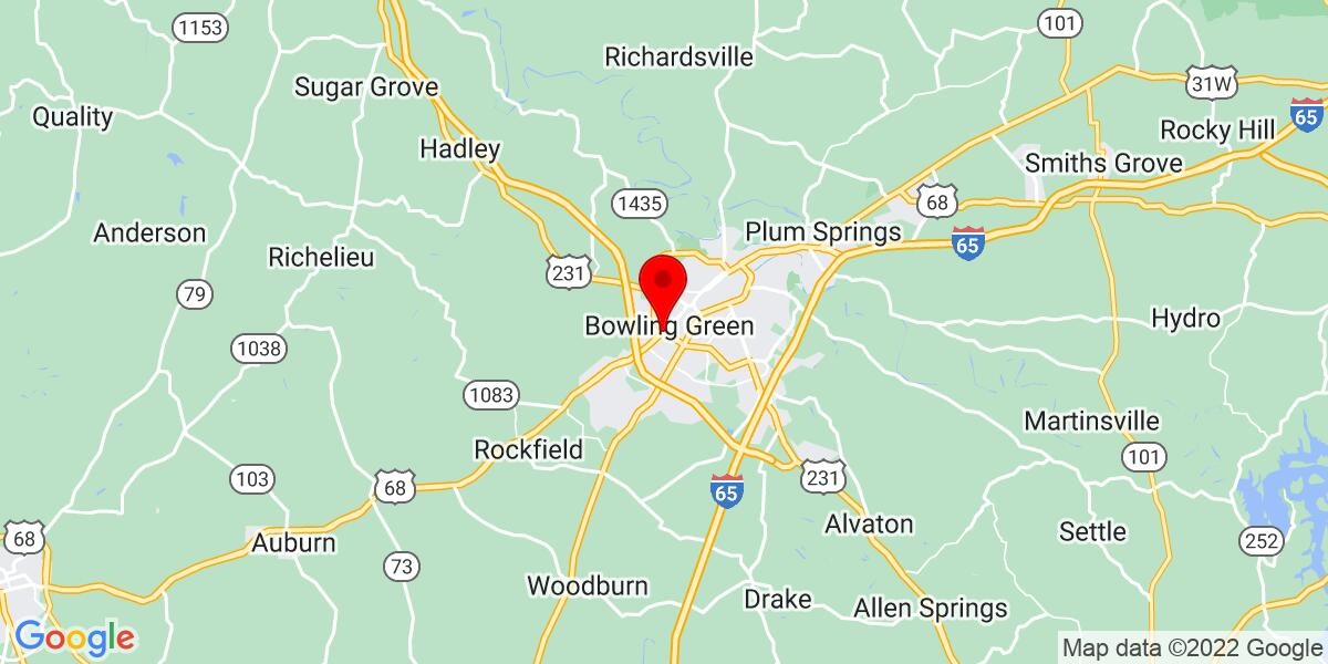 Google Map of Bowling Green, KY