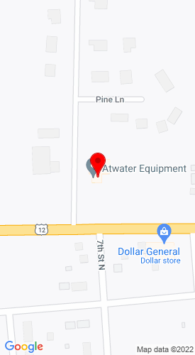 Google Map of Atwater Equipment Box 458, 604 Pleasant Ave W., Atwater, MN, 56209