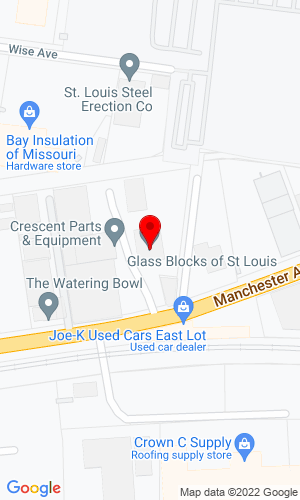Google Map of Boyer Equipment Company c/o Glass Blocks of St. Louis 1253 East Road, Saint Louis, MO, 63110