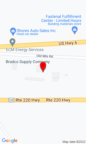 Google Map of Bradco Supply Company R.D. 1 Box 143-1, Towanda, PA, 18848