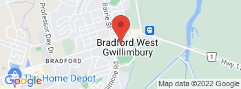 Google Map of Bradford+location+only%2CBradford%2COntario+L3Z+2B6