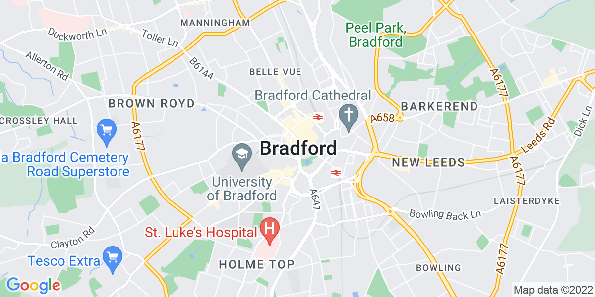 Map: Field Care Supervisor job role in Bradford