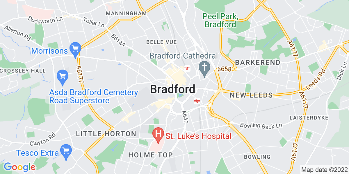 Map: Mechanical Design Engineer position in Bradford