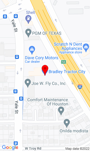 Google Map of Bradley's Tractor City 6319 North Freeway, Houston, TX, 77076,