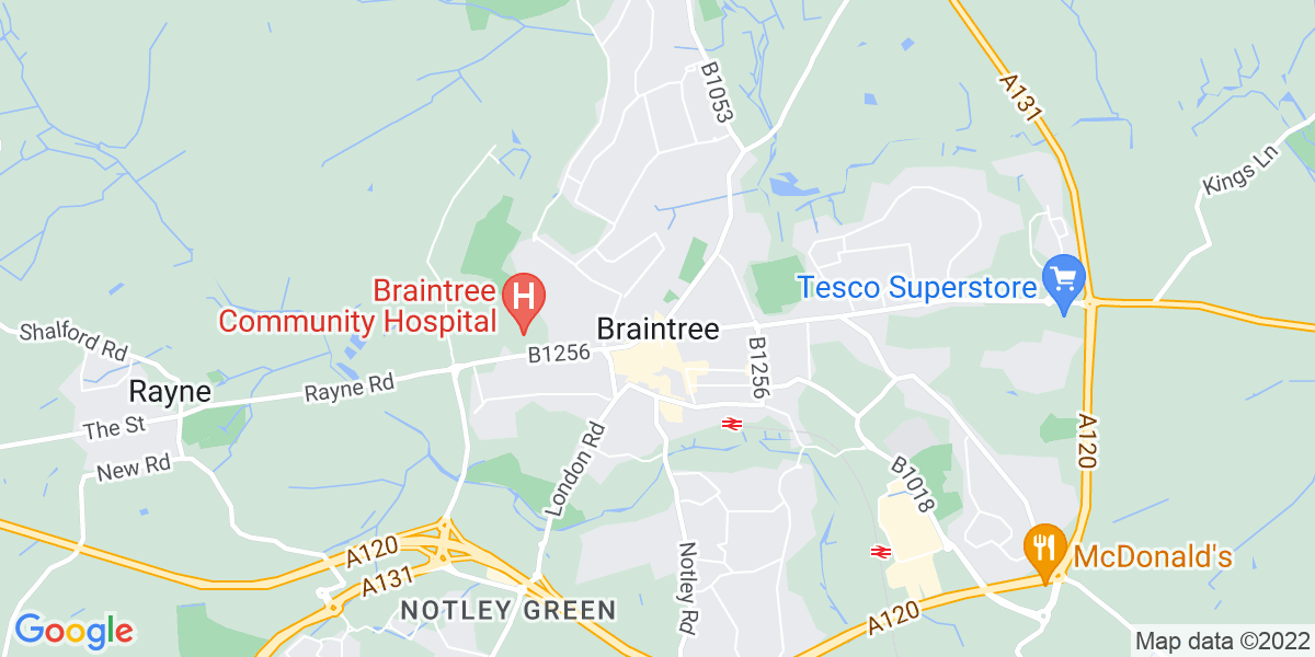 Map: Registered Care Home Manager role in Braintree