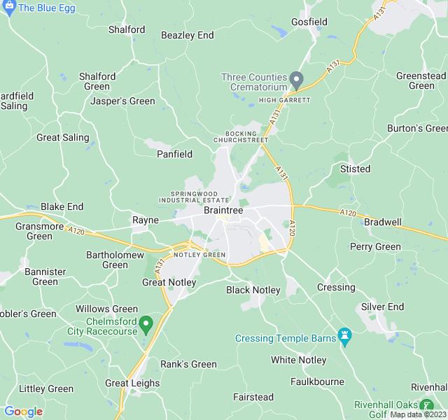 Website Designer Braintree Google map of location