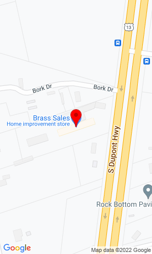 Google Map of Brass Sales Company, Inc. 8092 South DuPont Hwy, Felton, DE, 19943
