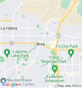Brea CA Map