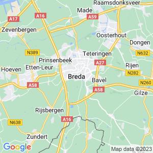 Werkgebied van onze bestrijder in Breda