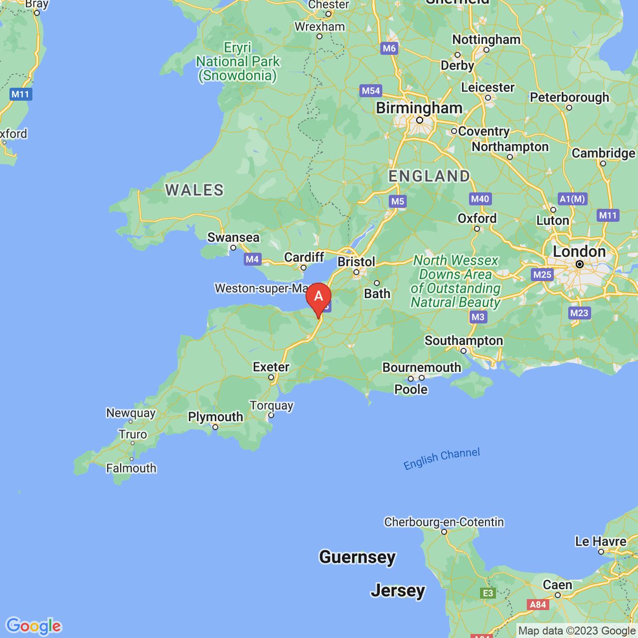Bridgwater, England Map