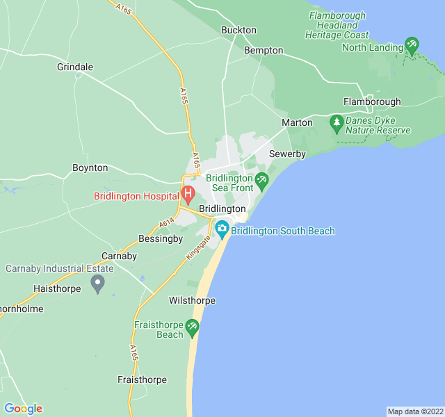 Website Designer Bridlington Google map of location