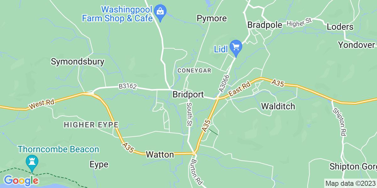 Map: Chef de Partie  role in Bridport