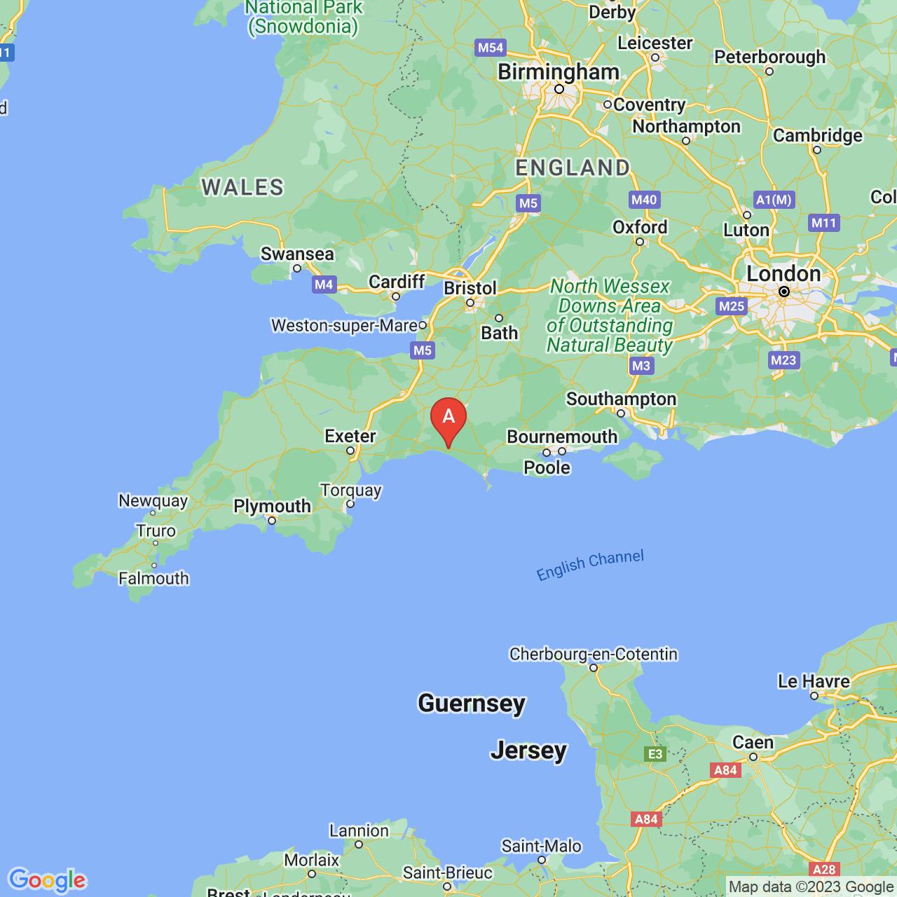 Bridport, England Map