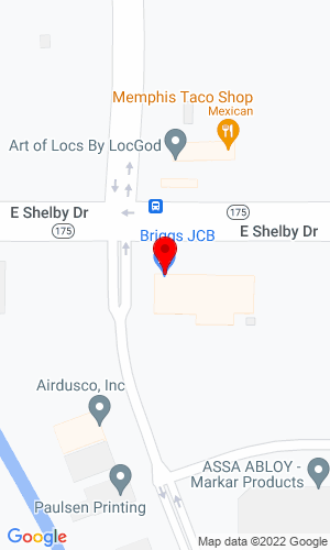 Google Map of Briggs JCB 5511 E Shelby Dr, Memphis, TN, 38141