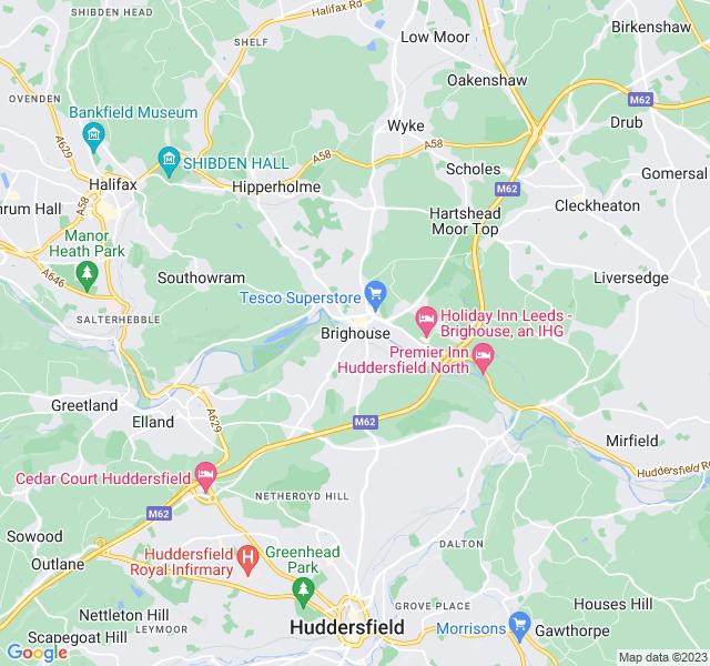 Website Designer Brighouse Google map of location