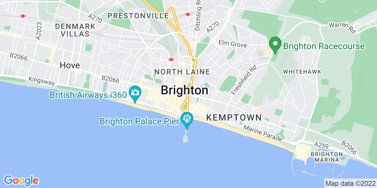 Map: Customer Service Manager position in Brighton