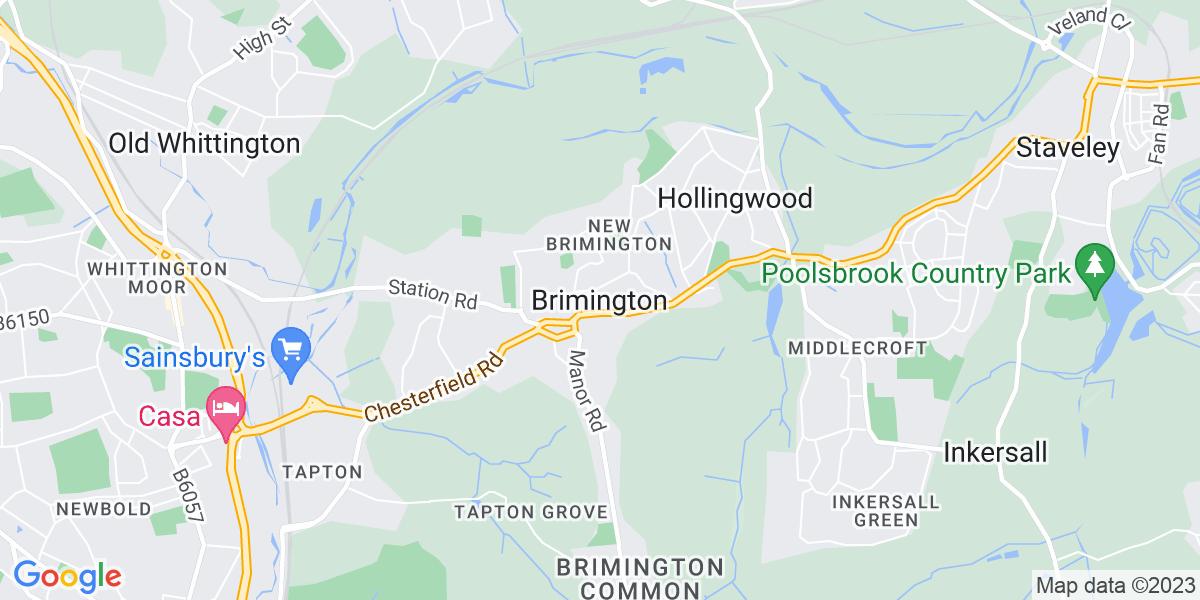 Map: Direct Sales Canvasser - Events/Doors/Venues position in Brimington