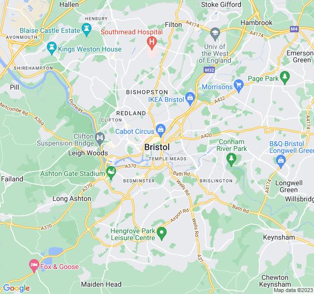 Website Designer Bristol Google map of location