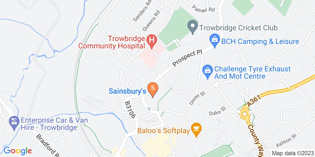 Google Map of British Row Trowbridge BA14 8PB