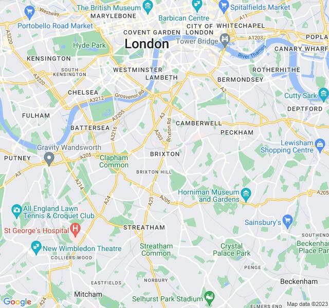 Website Designer Brixton Google map of location