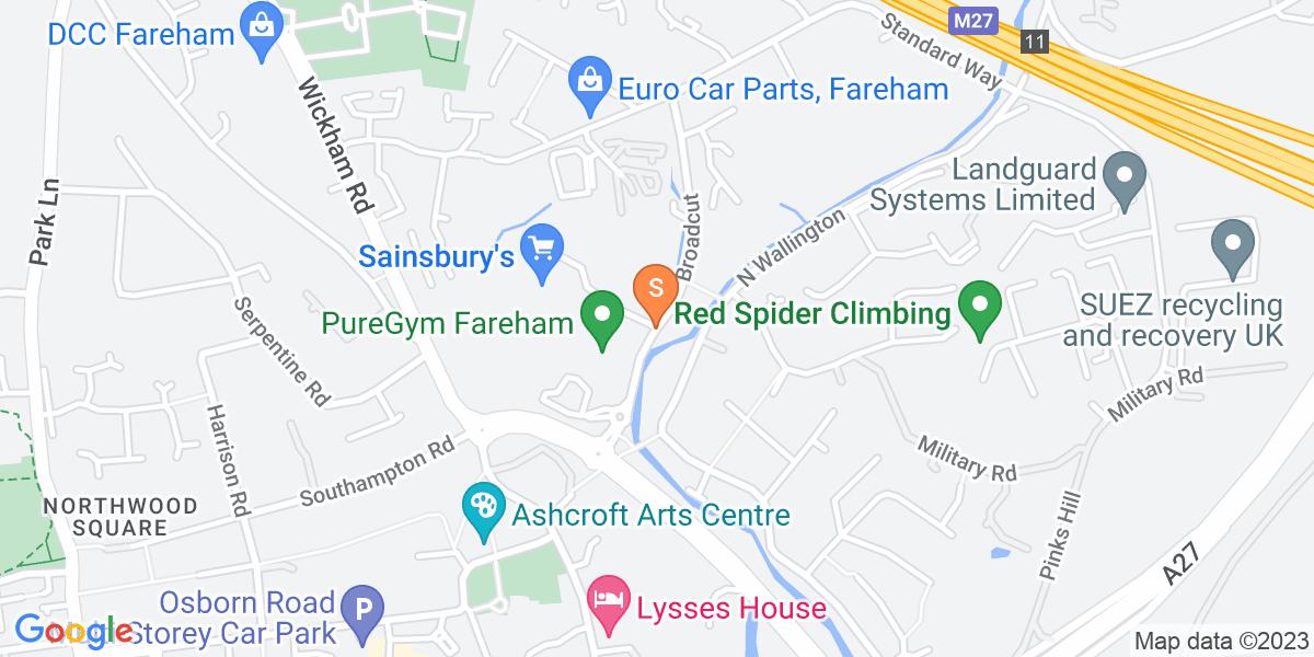 Google Map of Broadcut Fareham PO16 8SU