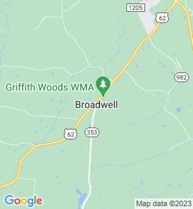 Broadwell KY Map