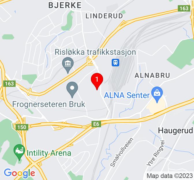Kart over Brobekkveien 101, Oslo