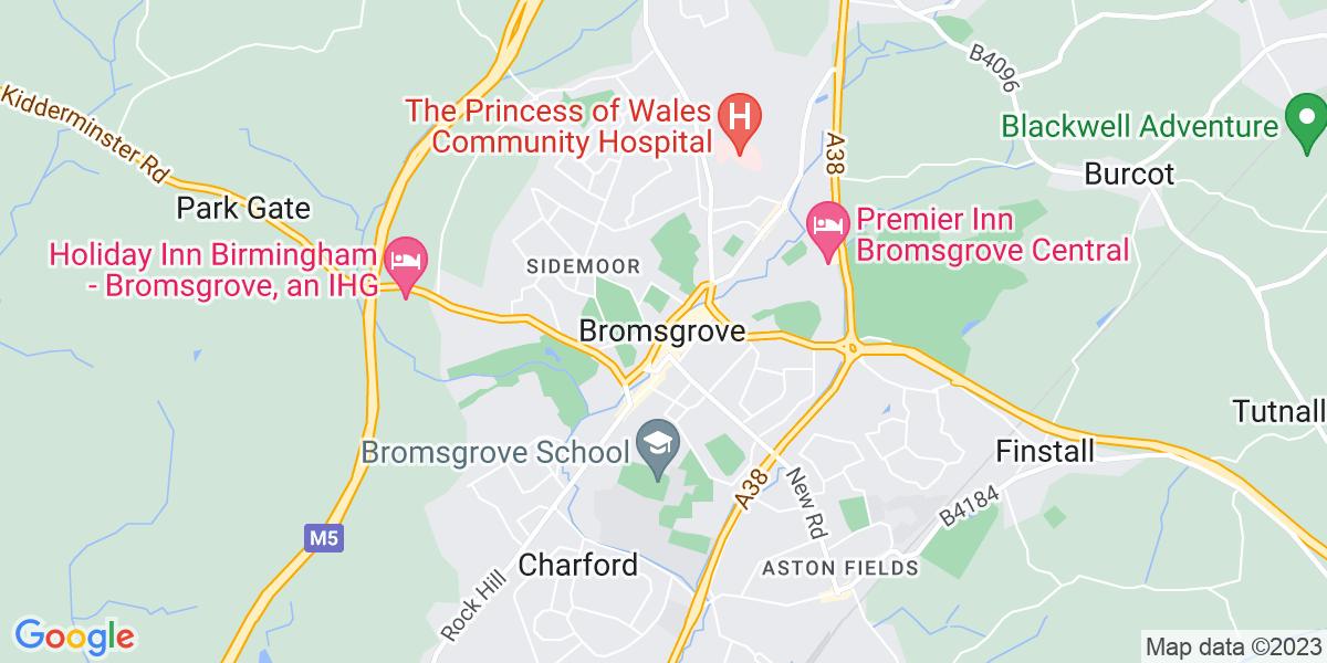 Map: Senior Book Keeper job role in Bromsgrove
