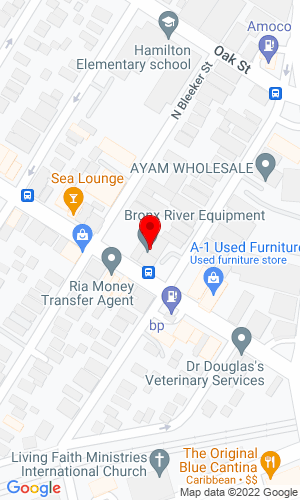 Google Map of Bronx River Equipment Ltd 58A Mt Vernon Avenue, Mt Vernon, NY, 10550