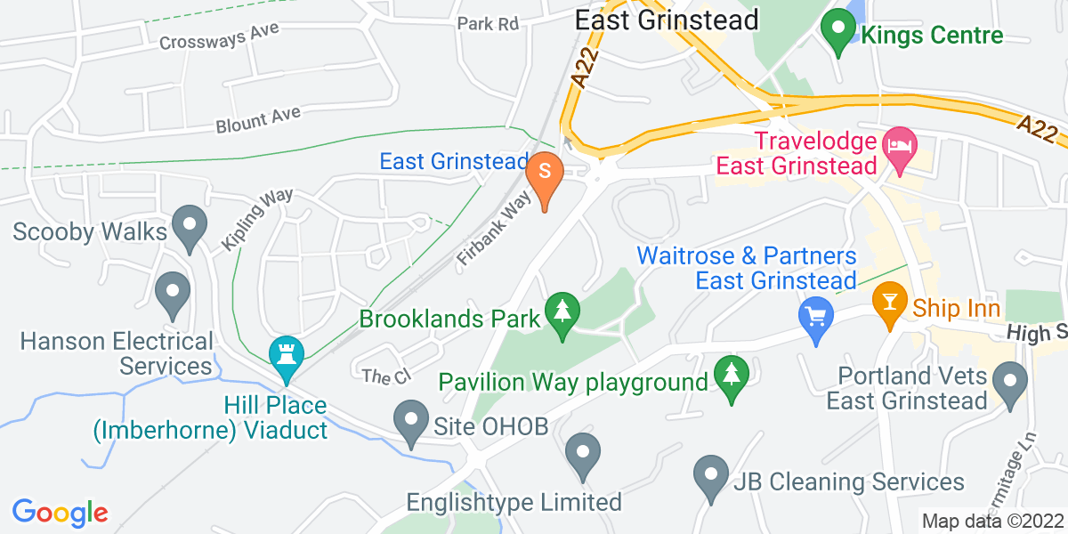 Google Map of Brooklands Way East Grinstead RH19 1DD