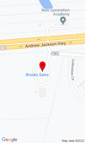 Google Map of Brooks Sales, Inc. 3144 Highway 74 East, Monroe, NC, 28112