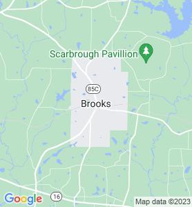 Brooks GA Map