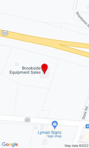 Google Map of Brookside Equipment Sales 60 State Road, Rt. 2A, Phillipston, MA, 01331
