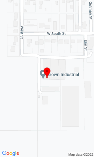 Google Map of Brown Industrial Inc. 311 W South Street, Botkins, OH, 45306