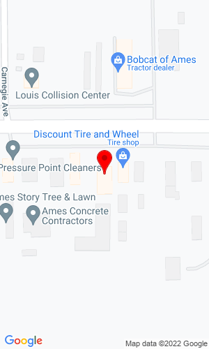 Google Map of Brown's Heavy Equipment, Inc. 1926 E Lincoln Way, Ames, IA, 50010,