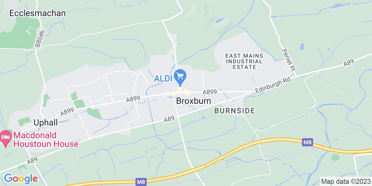 Map: Training Administrator job role in Broxburn
