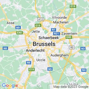 Werkgebied van onze bestrijder in Brussel