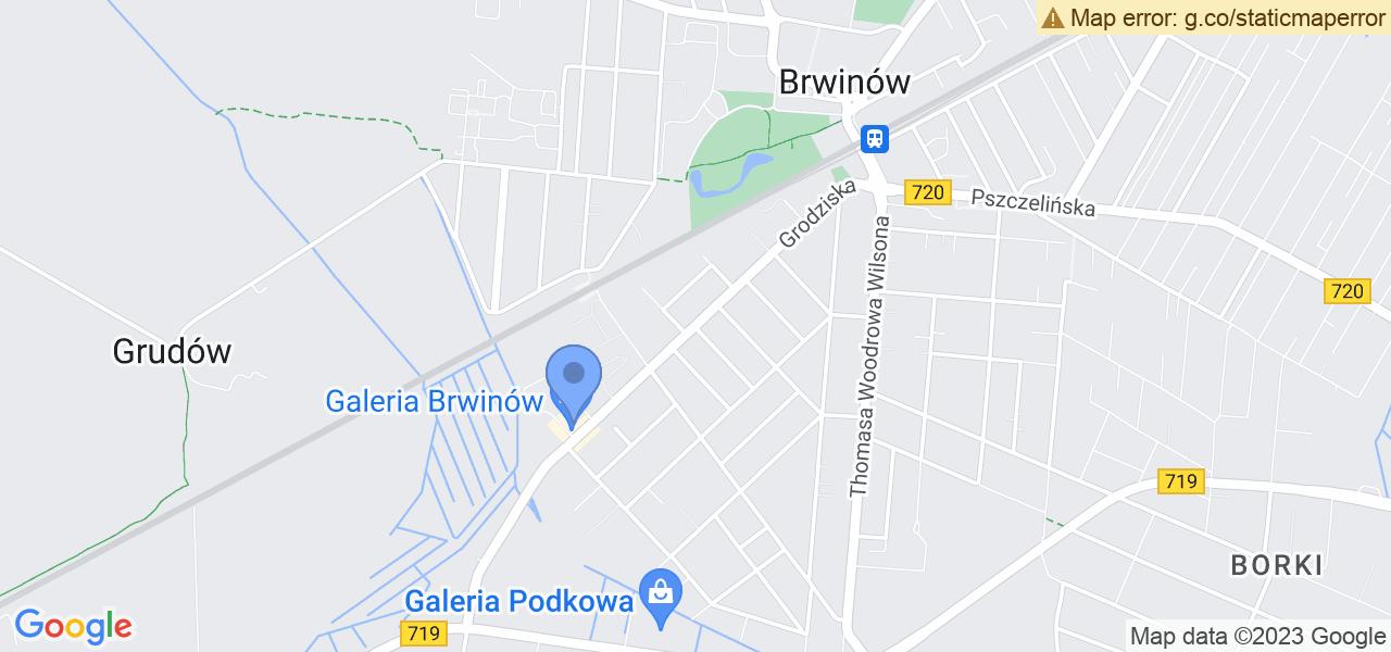 Jedna z ulic w Brwinowie – Grodziska i mapa dostępnych punktów wysyłki uszkodzonej turbiny do autoryzowanego serwisu regeneracji